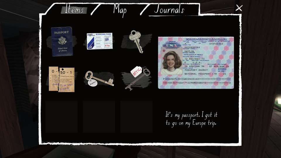 Some of the keys in Gone Home